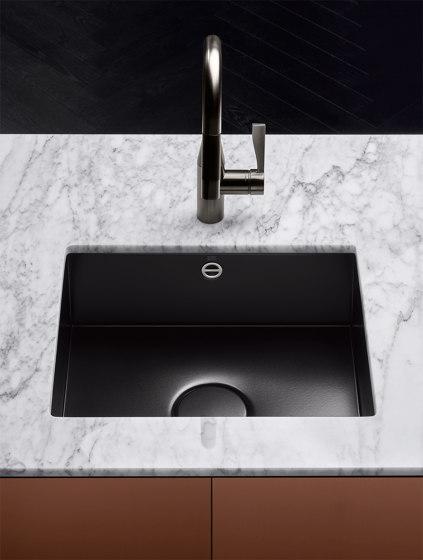 Kitchen sink in glazed steel - Einzelbecken von Dornbracht