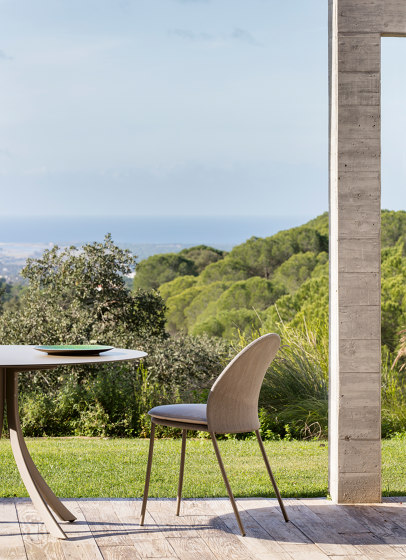 Falcata Outdoor rectangular dining table di Expormim