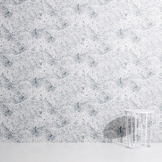 Dots | White on black wallpaper by Petite Friture