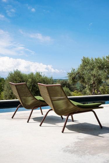 LAZE 002 | 004 High Backrest Lounge Chair & Stool von Roda