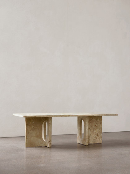 Androgyne Side Table | Marble top by MENU