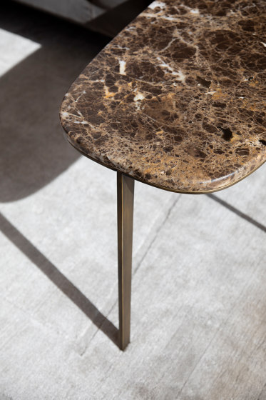 Side Table Round With Marble Top by Bensen