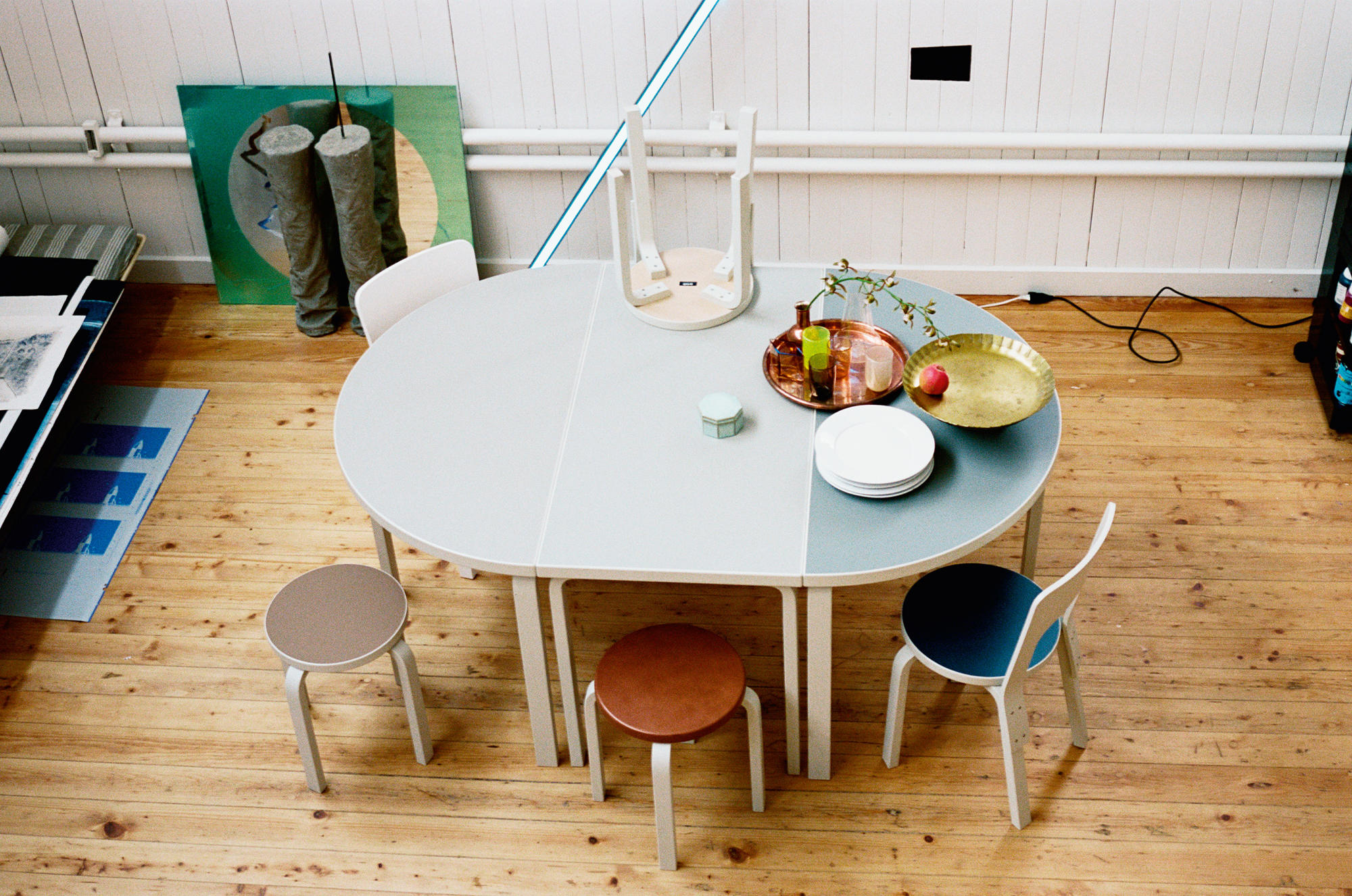Picture of: Aalto Table Half Round 95 Architonic