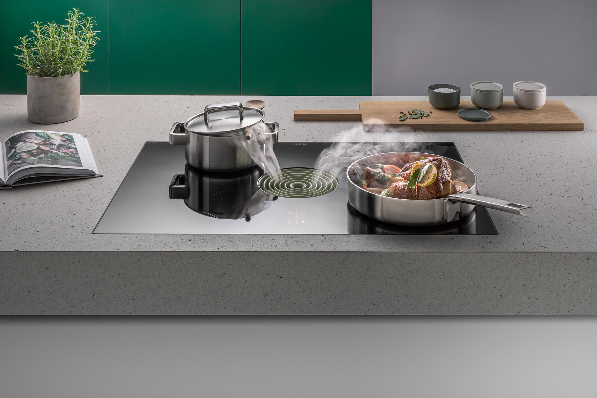Bora Plaque De Cuisson pura | induction cooktop with integrated cooktop extractor