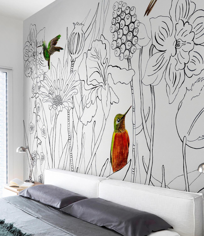 Красивые рисунки на стену дома должен почивать