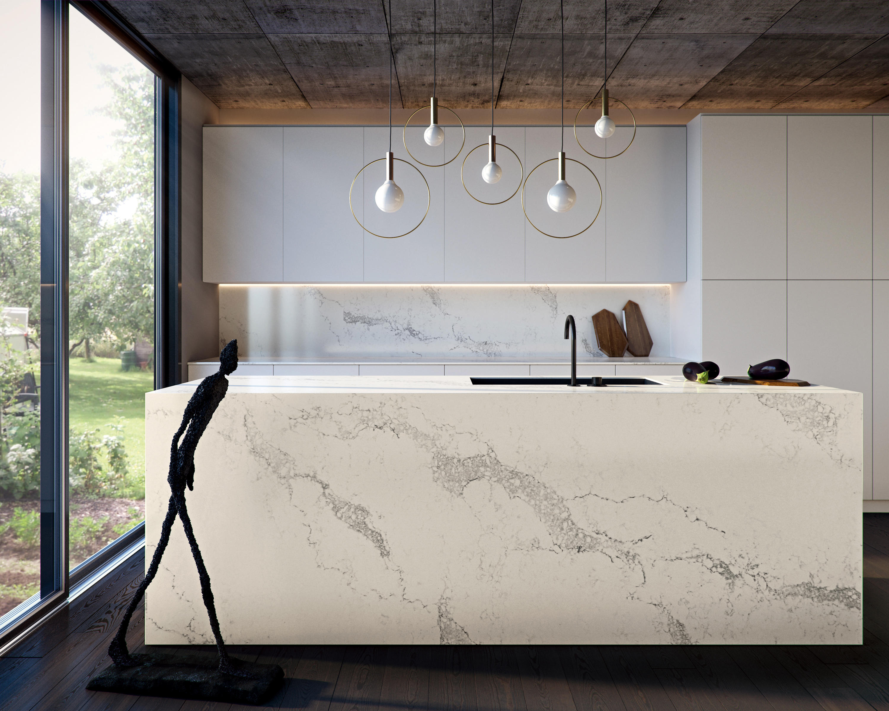 STATUARIO NUVO - Mineral composite panels from Caesarstone | Architonic