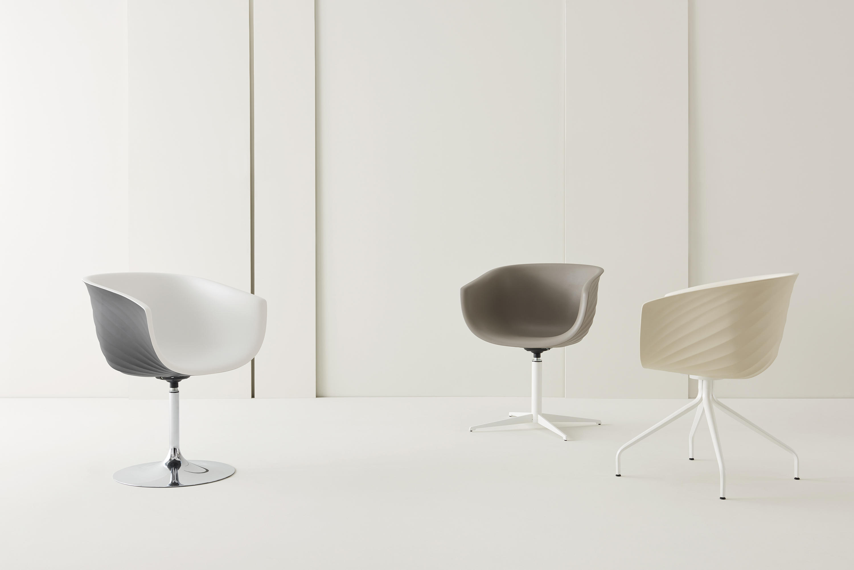 Derby swivel leg spider base upholstered chairs from segis