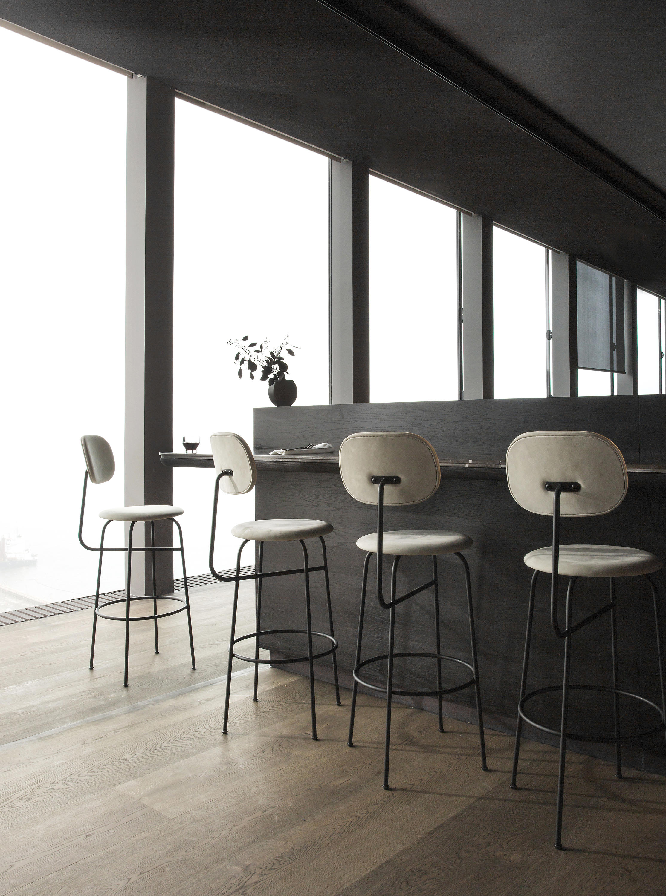 Afteroom Bar Chair  Black  Architonic