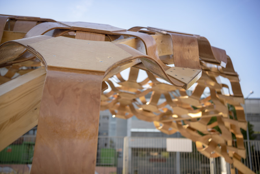 Biocomposites Experimental Pavilion by BioMat Group at ITKE | Installations