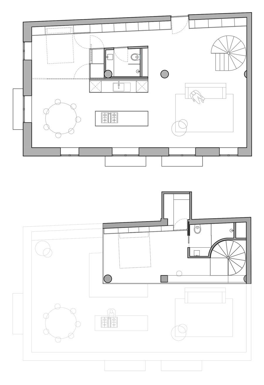 Loft 01 di Nada | Locali abitativi