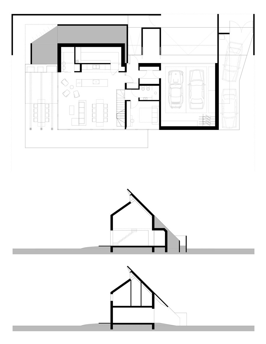 House Behind the Roof by Superhelix Pracownia Projektowa | Detached houses