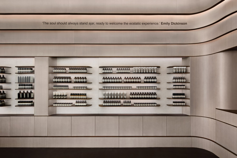 Aesop World Trade Center by Architensions   Shop interiors