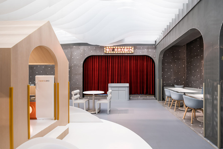 Lolly-Laputan kids café by Wutopia Lab | Café interiors