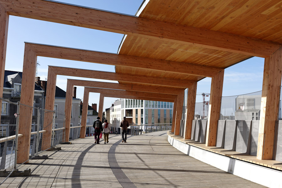 Passerelle Angers TGV Saint Laud by Dietmar Feichtinger Architectes | Bridges