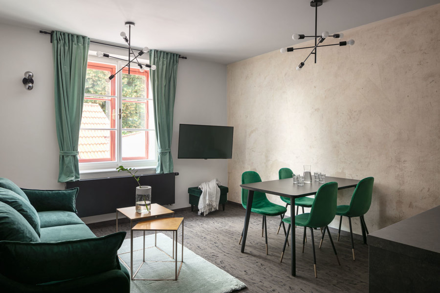 Apartments and Cafe Dačický by Tereza Komarkova Architect | Café interiors