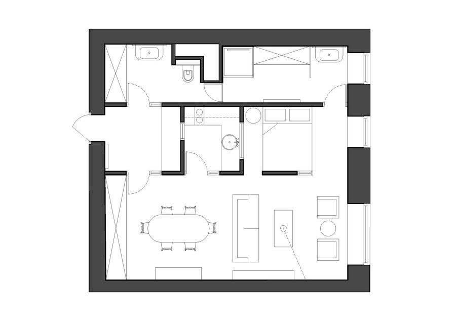 Lyalin Apt. von Blockstudio | Wohnräume
