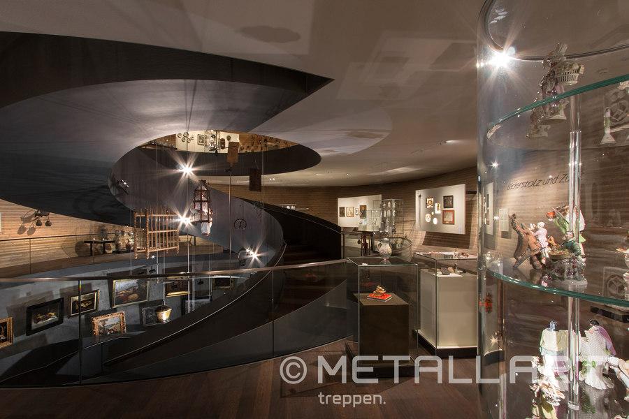 Gerundete Skulpturtreppe im PANEUM - Wunderkammer des Brotes by MetallArt Treppen | Manufacturer references