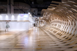 Wood floors whip up a surge, creating spectacular sensory illusions | Temporäre Bauten | TOWOdesign