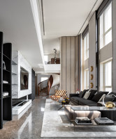 Penthouse of Vanke Metropolis No. 79 in Hangzhou | Living space | MDO