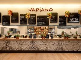 Food & Beverage retail system, Vapiano | Café interiors | Matteo Thun & Partners