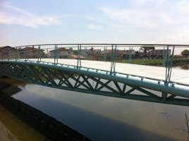 Deck plank for the pedestrian bridge in Chioggia | Herstellerreferenzen | Saimex