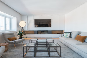 A house held by shelves | Living space | blaanc