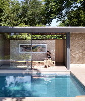 Pared-back garden Pavilions | Freibäder | Threefold Architects