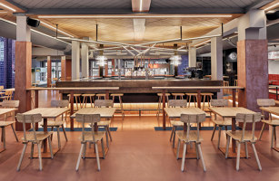 Foodhallen Den Haag | Restaurant interiors | Studio Modijefsky