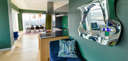 Appartamento Fiore Verde allo ZŁOTA 44 di Varsavia | Manufacturer references | Inkiostro Bianco