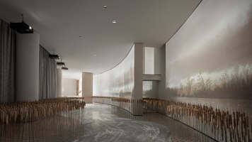 Xi'an VANKE • VIEW LAKE Sales Center | Shop interiors | ONE-CU Interior Design Lab
