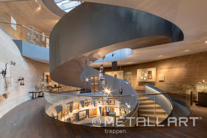 Gerundete Skulpturtreppe im PANEUM - Wunderkammer des Brotes | Manufacturer references | MetallArt Treppen