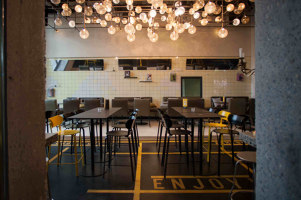 Hiltl Sihlpost | Restaurant interiors | Atelier ushitamborriello Innenarchitektur_Szenenbild