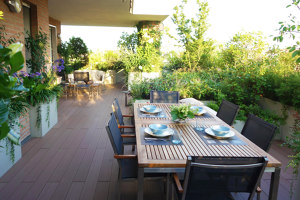 Terrace in Varese by architect Mazzucchelli | Manufacturer references | Felli