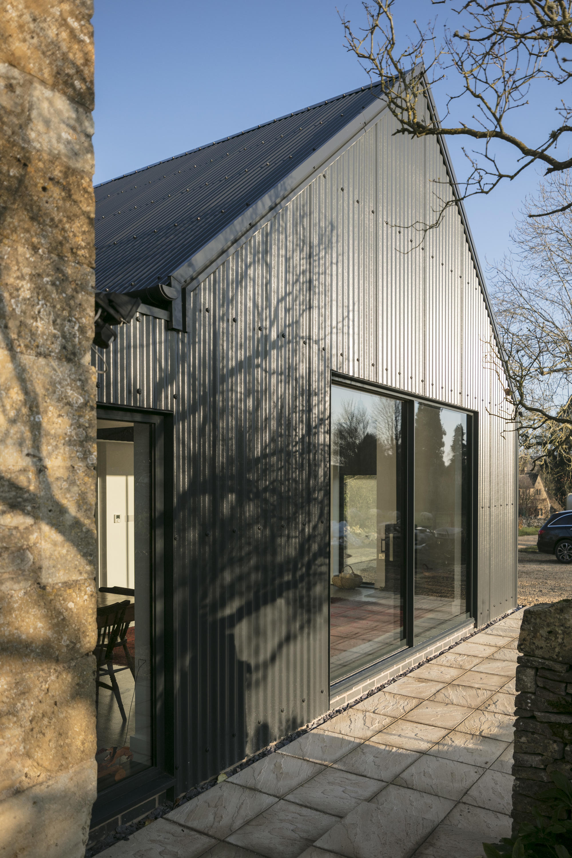 Corrugated Metal Extension By Eastabrook Architects Detached Houses
