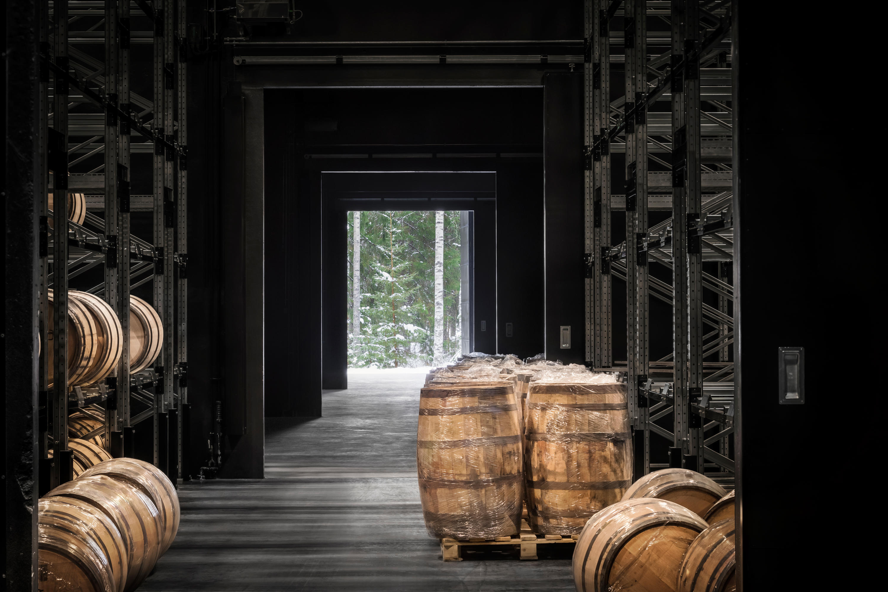 Kyro Distillery Barrel Storage By Avanto Architects Industrial Buildings