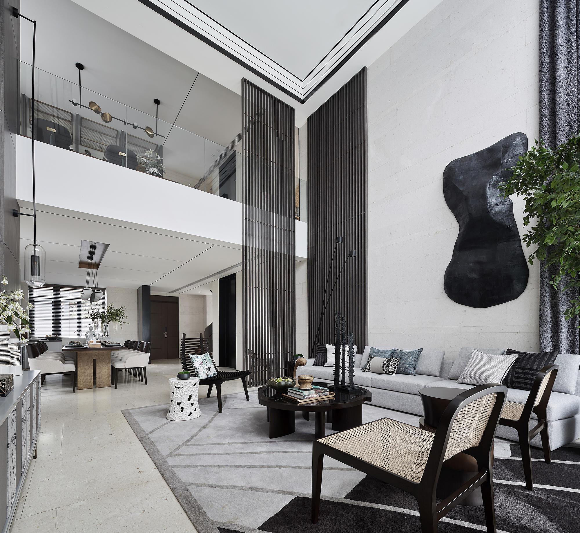 poly • the landscape mansion model villa von one-cu interior