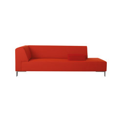 Finch Metal chaise longue | Recamieres | Palau