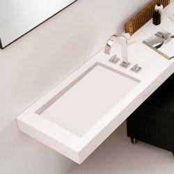 A2 Tapa con lavabo integrado en Corian® | Lavabos | Inbani