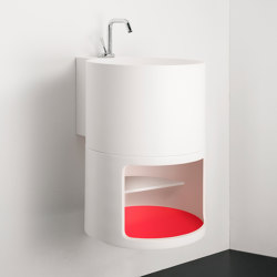 Tambo Topsolid top or wall mounted washbasin | Wash basins | Inbani
