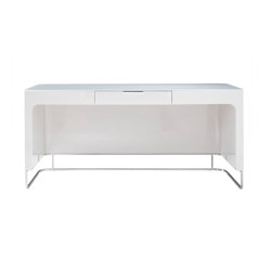 Hyannis Port | Desk Milk Glass Top Gloss White Lacquer | Desks | Ligne Roset