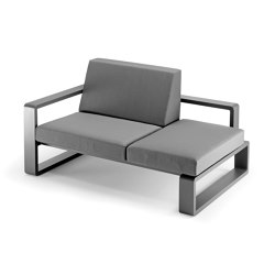 Kama | Meridian with Right Armrest | Chaise longues | EGO Paris