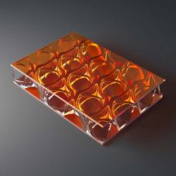 clear-PEP® UV PC color orange   Synthetic panels   Design Composite