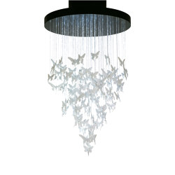 Re-cyclos Niagara Chandelier 1.10m (CE/UK) | White | Suspensions | Lladró