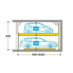 Combilift 551 | Semi automatic parking systems | Wöhr