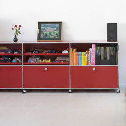 USM Haller Sideboard | USM Ruby Red | Credenze | USM