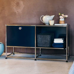 USM Haller Nightstand | Steel Blue | Tables de chevet | USM