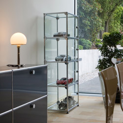 USM Haller Showcase | Transparent Glass | Display cabinets | USM