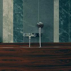 AXOR Citterio 3-Hole Bath Mixer with cross handles and plate DN15 | Bath taps | AXOR