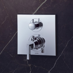 AXOR Citterio Thermostatic Mixer for concealed installation with shut-off|diverter valve and lever handle | Shower controls | AXOR