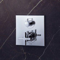 AXOR Citterio Thermostatic Mixer for concealed installation with shut-off|diverter valve and cross handle | Shower controls | AXOR